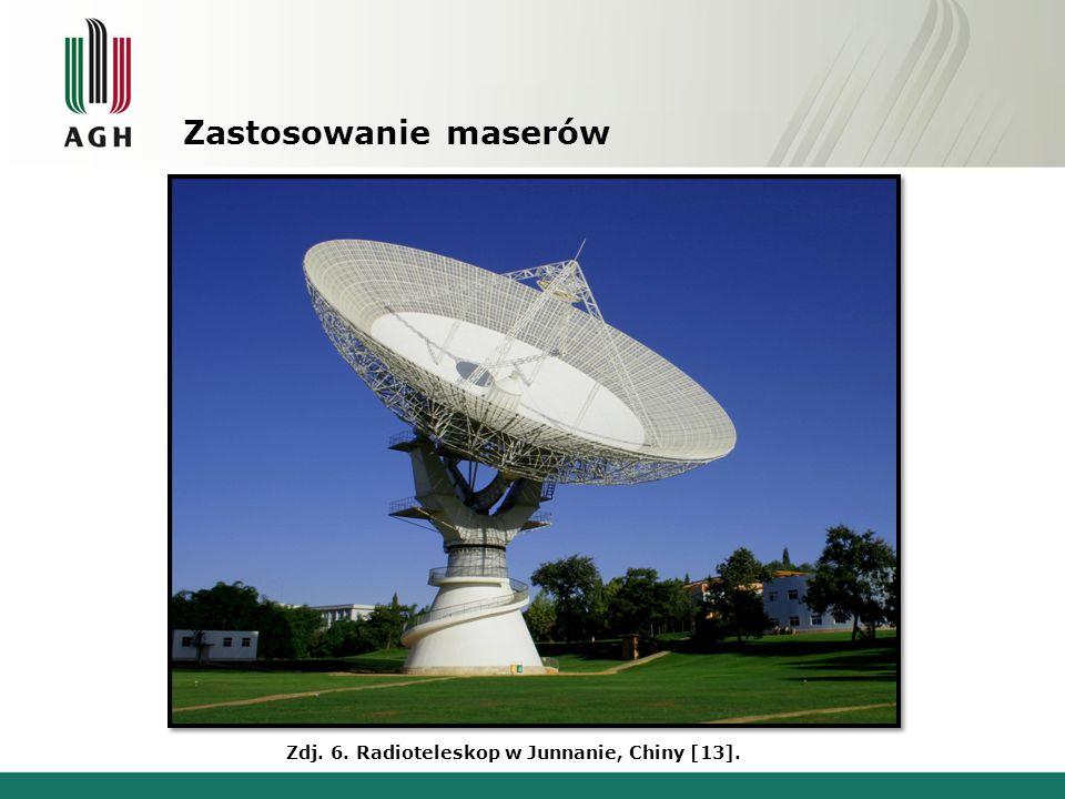 Zastosowanie maserów Zdj. 6. Radioteleskop w Junnanie, Chiny [13].
